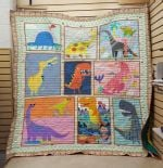 Theartsyhomes Dinosaur Cartoon V1 3D Personalized Customized Quilt Blanket ESR36