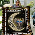 Theartsyhomes Elephant Love To The Moon And Back 3D Personalized Customized Quilt Blanket ESR21