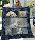 Theartsyhomes Bichon Frise Qui3004 3D Personalized Customized Quilt Blanket ESR17