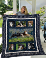 Theartsyhomes Bernese Mountain 1 3D Personalized Customized Quilt Blanket ESR50