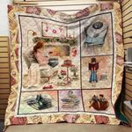 Theartsyhomes Book D1205 83o07 3D Personalized Customized Quilt Blanket ESR40