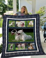 Theartsyhomes Dogo Argentino 3D Personalized Customized Quilt Blanket ESR6