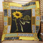 Theartsyhomes Cat Sunflower J2901 82o36 3D Personalized Customized Quilt Blanket ESR19