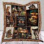 Theartsyhomes Books and Cats 3D Personalized Customized Quilt Blanket ESR15
