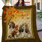 Theartsyhomes Basset Hound Phqd15001 3D Personalized Customized Quilt Blanket ESR37