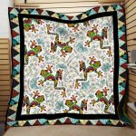 Theartsyhomes Dloral Frog Hqc-Qhn00039 3D Personalized Customized Quilt Blanket ESR10