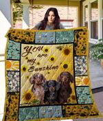 Theartsyhomes Dachshund Qui12011 3D Personalized Customized Quilt Blanket ESR26