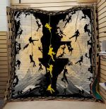 Theartsyhomes Camping: Black And Yellow 3D Personalized Customized Quilt Blanket ESR1