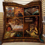 Theartsyhomes Book Treasuares 3D Personalized Customized Quilt Blanket ESR25