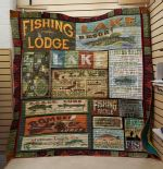 Theartsyhomes Fishing Lodge 3D Personalized Customized Quilt Blanket ESR31