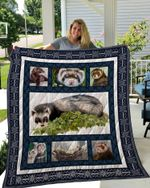Theartsyhomes Ferret 2 3D Personalized Customized Quilt Blanket ESR4