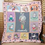 Theartsyhomes Bye humanity unicorn 3D Personalized Customized Quilt Blanket ESR27
