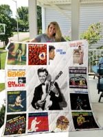 Theartsyhomes Chuck Berry 3D Personalized Customized Quilt Blanket ESR1