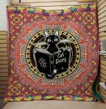 Theartsyhomes Cat story 3D Personalized Customized Quilt Blanket ESR17