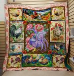 Theartsyhomes Chicken 12 3D Personalized Customized Quilt Blanket ESR2