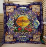 Theartsyhomes Dragonfly And Flower V2 3D Personalized Customized Quilt Blanket ESR3
