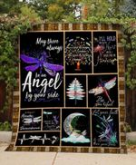 Theartsyhomes Dragonfly Angel 3D Personalized Customized Quilt Blanket ESR11
