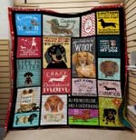 Theartsyhomes Crazy Dachshund mom 3D Personalized Customized Quilt Blanket ESR34