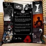 Theartsyhomes Death Note 3D Personalized Customized Quilt Blanket ESR42