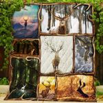 Theartsyhomes Deer 3D Personalized Customized Quilt Blanket ESR27