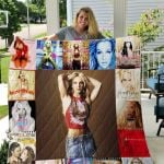 Theartsyhomes Britney Spears Style Two 3D Personalized Customized Quilt Blanket ESR16