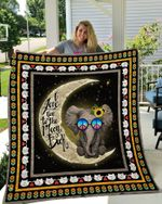 Theartsyhomes Elephant love to the Moon and Back 3D Personalized Customized Quilt Blanket ESR20