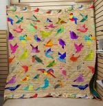 Theartsyhomes Colorfull Bird 3D Personalized Customized Quilt Blanket ESR46