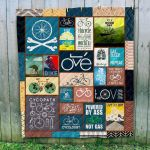 Theartsyhomes Bicycling Art 3D Personalized Customized Quilt Blanket ESR29