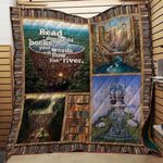 Theartsyhomes Book Words 3D Personalized Customized Quilt Blanket ESR32