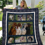 Theartsyhomes English Setter Qui27001 3D Personalized Customized Quilt Blanket ESR43