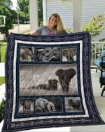 Theartsyhomes Elephant 2 3D Personalized Customized Quilt Blanket ESR44