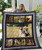 Theartsyhomes Border Collie Qui17006 3D Personalized Customized Quilt Blanket ESR41