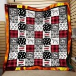 Theartsyhomes Dalmatian Future Firefighter Hqc-Qht00019 3D Personalized Customized Quilt Blanket ESR48