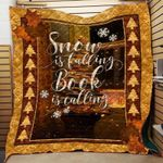 Theartsyhomes Book And Snow 3D Personalized Customized Quilt Blanket ESR38