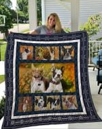 Theartsyhomes Boston Terrier 4 3D Personalized Customized Quilt Blanket ESR14