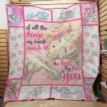 Theartsyhomes Elephant M1803 87o36 3D Personalized Customized Quilt Blanket ESR41