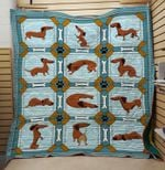 Theartsyhomes Dachshund 5 3D Personalized Customized Quilt Blanket ESR27