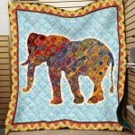 Theartsyhomes Elephant Printing Hqc-Qvk00016 3D Personalized Customized Quilt Blanket ESR47