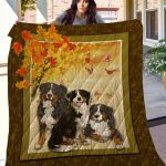 Theartsyhomes Bernese Mountain Dog Phqd16001 3D Personalized Customized Quilt Blanket ESR15