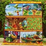 Theartsyhomes Dinosaur Train 3D Personalized Customized Quilt Blanket ESR1