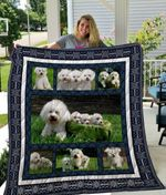 Theartsyhomes Bichon Frisxc3xa9 Qui3003 3D Personalized Customized Quilt Blanket ESR21
