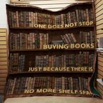 Theartsyhomes Book Bookshelves V2 3D Personalized Customized Quilt Blanket ESR42
