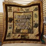 Theartsyhomes Book Writer N2601 85o08 3D Personalized Customized Quilt Blanket ESR4