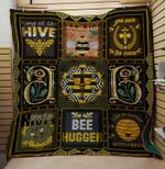 Theartsyhomes Bee Hugger 3D Personalized Customized Quilt Blanket ESR28