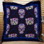 Theartsyhomes English Bull Dog Skull #1010-6 3D Personalized Customized Quilt Blanket ESR31