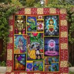 Theartsyhomes Belle And The Beast Fabric 3D Personalized Customized Quilt Blanket ESR45