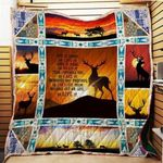 Theartsyhomes Deer 3D Personalized Customized Quilt Blanket ESR28