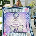 Theartsyhomes Elephant Dont Worry Be Happy Quil Dtn-Qdd00032 3D Personalized Customized Quilt Blanket ESR14