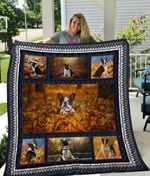 Theartsyhomes Boston Terrier Qui18005 3D Personalized Customized Quilt Blanket ESR30