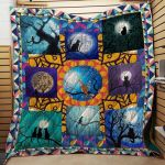 Theartsyhomes Cat Watching The Moon 3D Personalized Customized Quilt Blanket ESR22